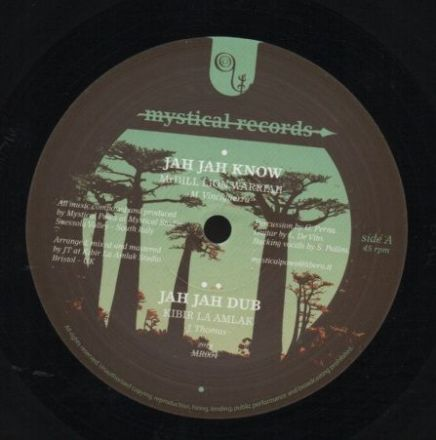 Mr Dill Lion Warriah - Jah Jah Know / dub / Mulu & I-Jah Salomon - Trust The Dream Discomix (Mystical Records) UK 12""